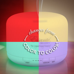 Diffuser #1: Multicolor Ultrasonic Diffuser, Ionizer, Humidifier, Air Purifier, Color Changing